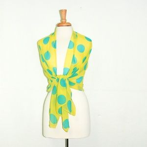 Accessories - Polka Dot Yellow Women Scarf